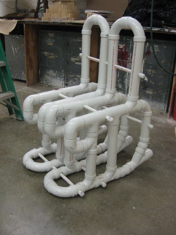 Pvc pipe chair angela koskela bacon for Pvc pipe art ideas